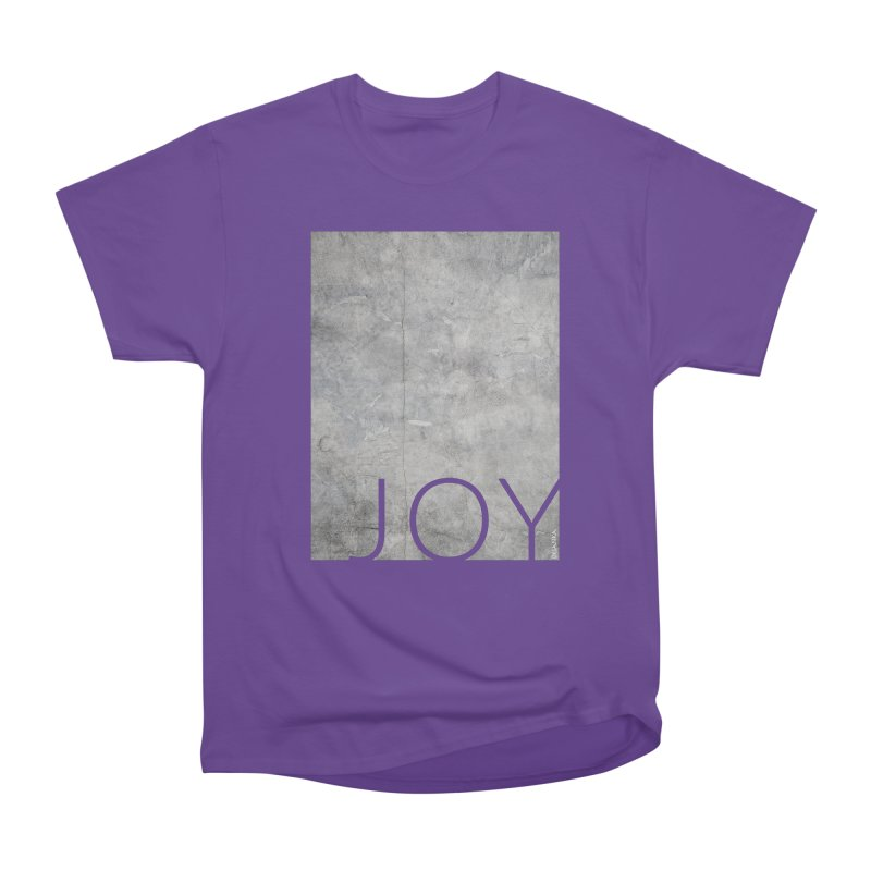 JOY // Concrete Foundation Men's Heavyweight T-Shirt by Desanka Spirit's Artist Shop