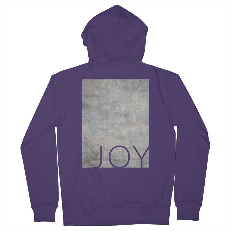JOY // Concrete Foundation Women's French Terry Zip-Up Hoody by Desanka Spirit's Artist Shop