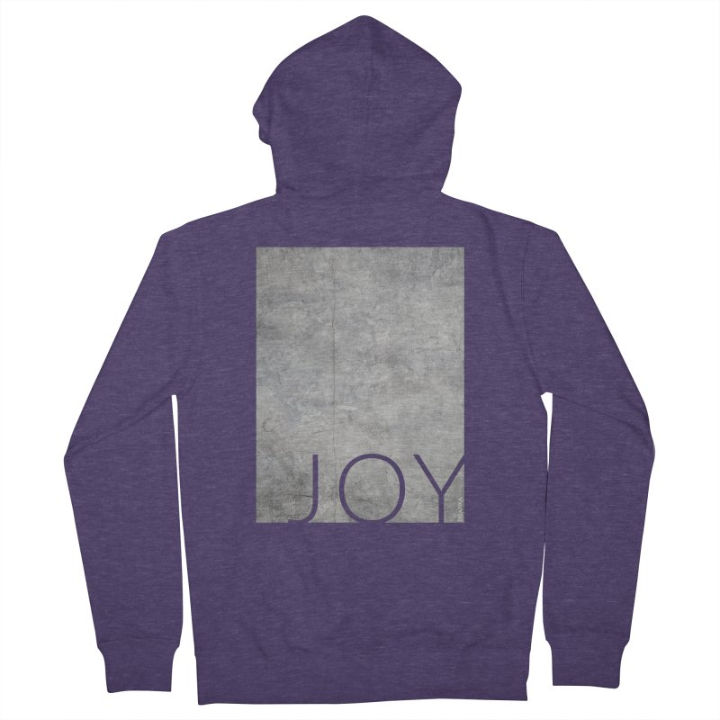 JOY // Concrete Foundation Men's French Terry Zip-Up Hoody by desankaspirit's Artist Shop