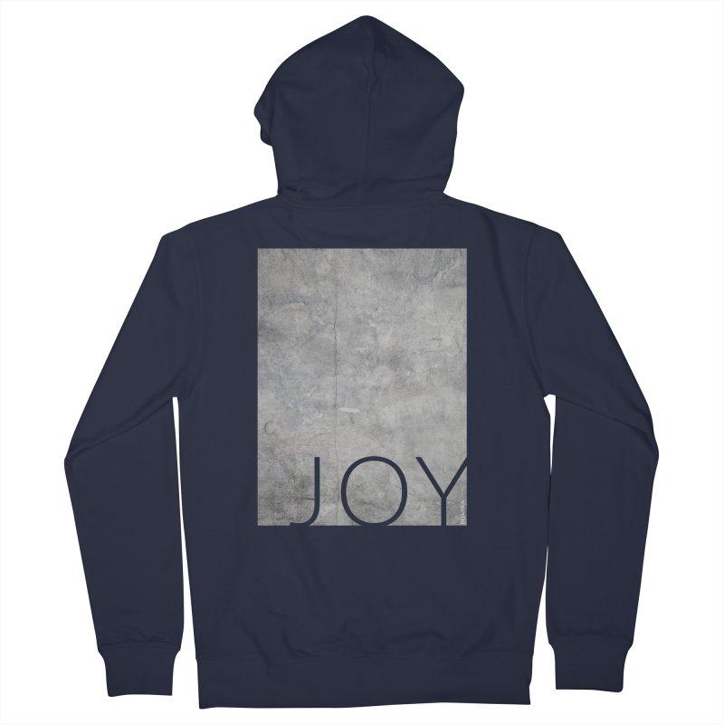JOY // Concrete Foundation Men's French Terry Zip-Up Hoody by Desanka Spirit's Artist Shop