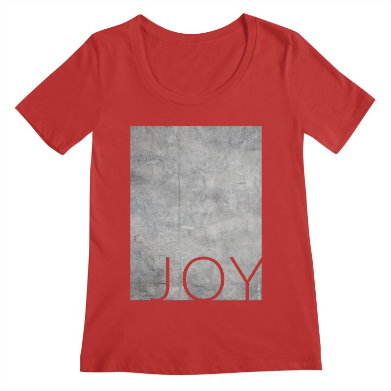 JOY // Concrete Foundation Women's Regular Scoop Neck by Desanka Spirit's Artist Shop
