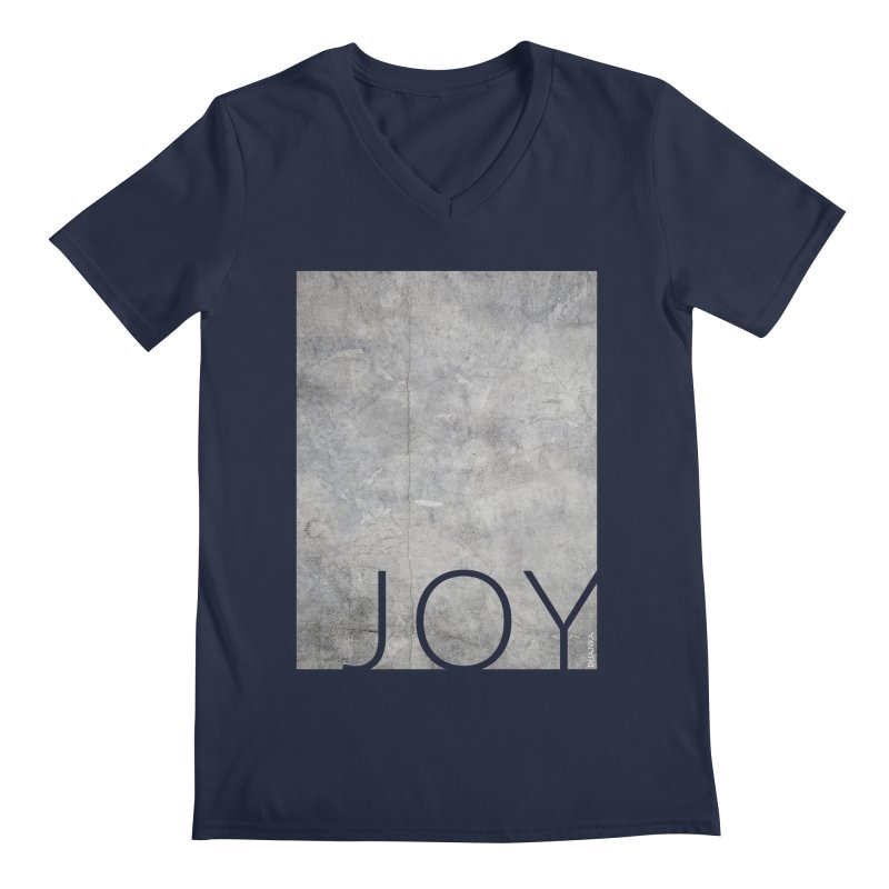 JOY // Concrete Foundation Men's V-Neck by Desanka Spirit's Artist Shop