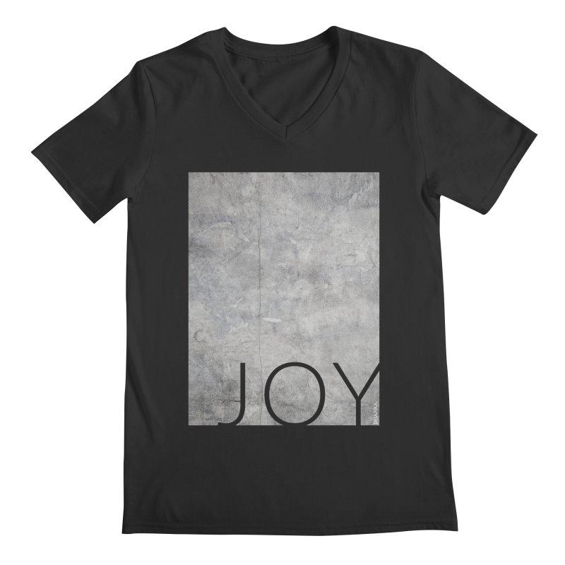 JOY // Concrete Foundation Men's Regular V-Neck by desankaspirit's Artist Shop