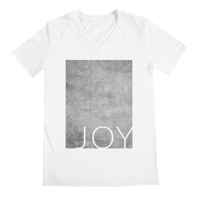 JOY // Concrete Foundation Men's Regular V-Neck by Desanka Spirit's Artist Shop