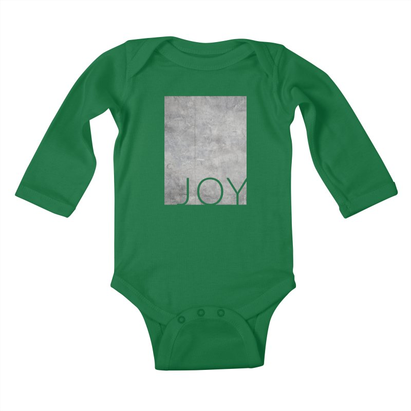 JOY // Concrete Foundation Kids Baby Longsleeve Bodysuit by Desanka Spirit's Artist Shop