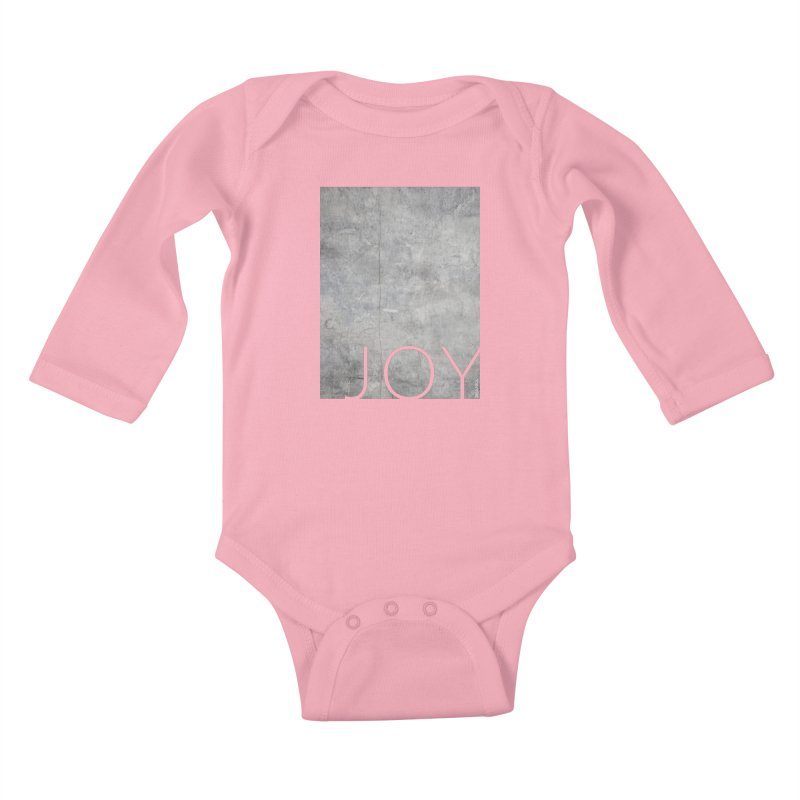 JOY // Concrete Foundation Kids Baby Longsleeve Bodysuit by Desanka Spirit's Artist Shop