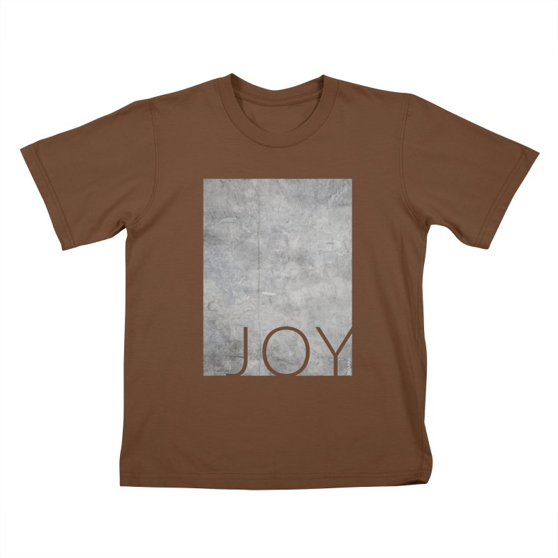 JOY // Concrete Foundation Kids T-Shirt by Desanka Spirit's Artist Shop