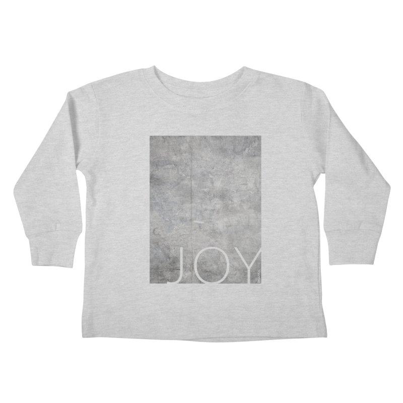 JOY // Concrete Foundation Kids Toddler Longsleeve T-Shirt by Desanka Spirit's Artist Shop