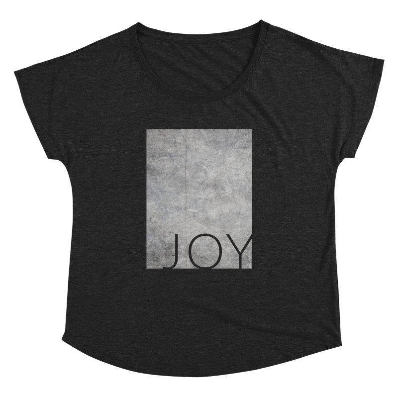 JOY // Concrete Foundation Women's Scoop Neck by Desanka Spirit's Artist Shop