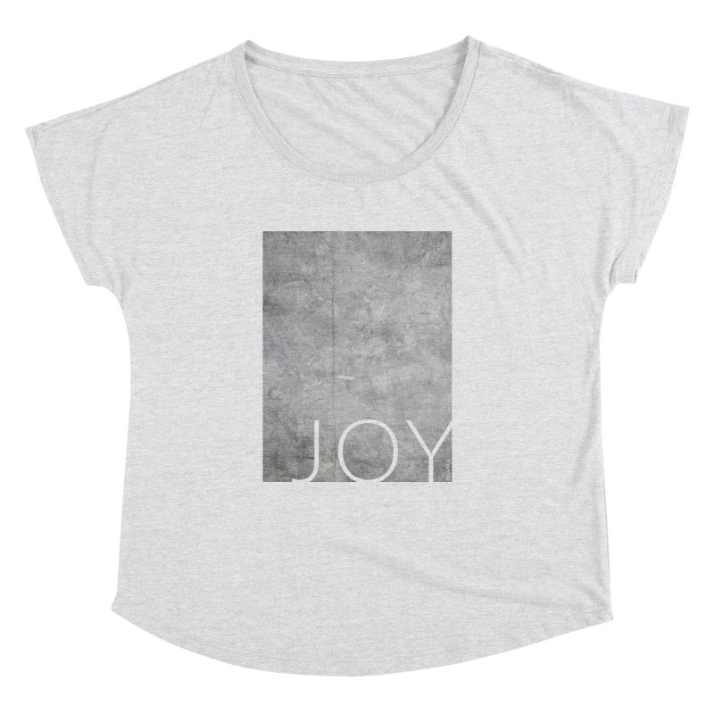JOY // Concrete Foundation Women's Scoop Neck by Desanka Spirit's Artist Shop