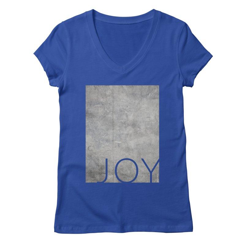 JOY // Concrete Foundation Women's V-Neck by Desanka Spirit's Artist Shop