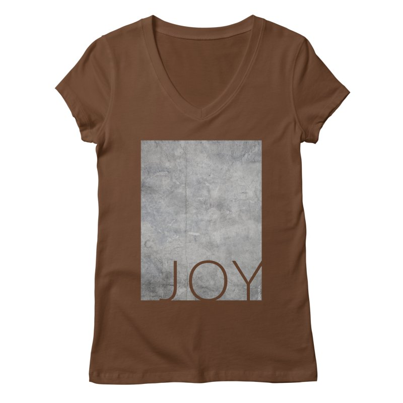 JOY // Concrete Foundation Women's V-Neck by Desanka Spirit's Artist Shop