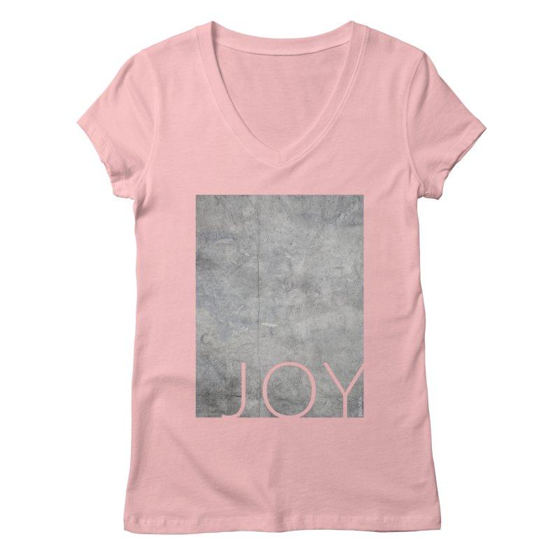 JOY // Concrete Foundation Women's Regular V-Neck by Desanka Spirit's Artist Shop