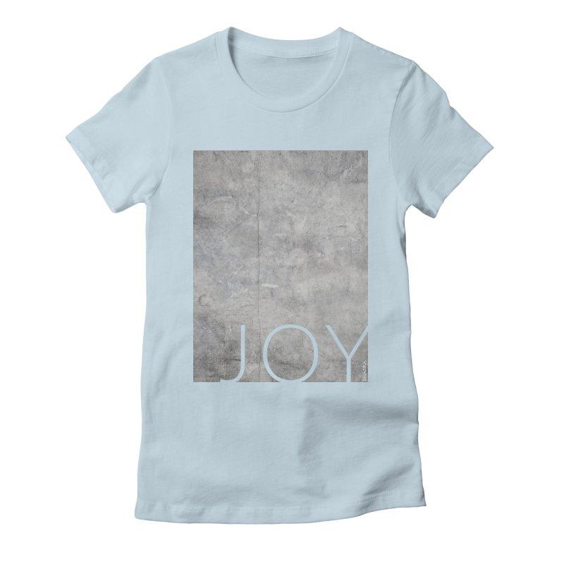 JOY // Concrete Foundation Women's Fitted T-Shirt by Desanka Spirit's Artist Shop