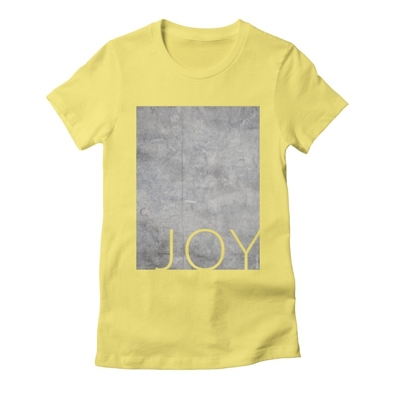 JOY // Concrete Foundation Women's Fitted T-Shirt by Desanka Spirit's Artist Shop