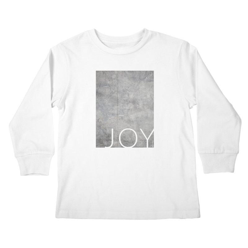 JOY // Concrete Foundation Kids Longsleeve T-Shirt by Desanka Spirit's Artist Shop