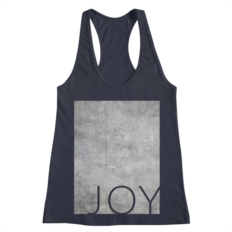 JOY // Concrete Foundation Women's Racerback Tank by Desanka Spirit's Artist Shop