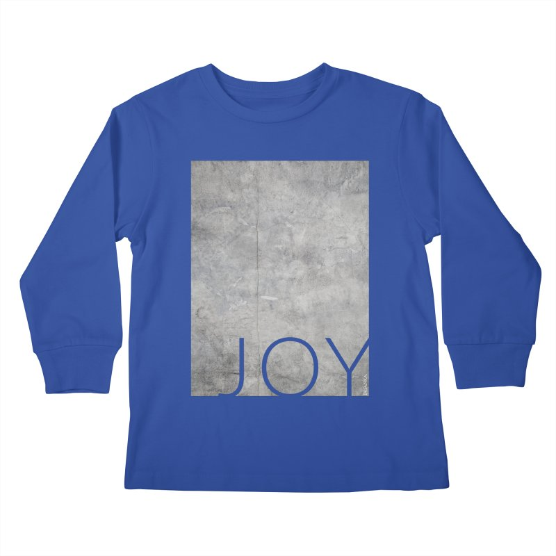 JOY // Concrete Foundation Kids Longsleeve T-Shirt by Desanka Spirit's Artist Shop