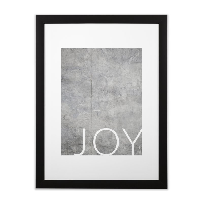 JOY // Concrete Foundation Home Framed Fine Art Print by Desanka Spirit's Artist Shop