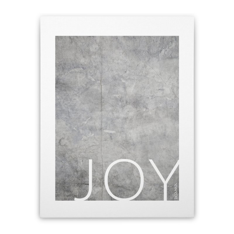 JOY // Concrete Foundation Home Stretched Canvas by Desanka Spirit's Artist Shop