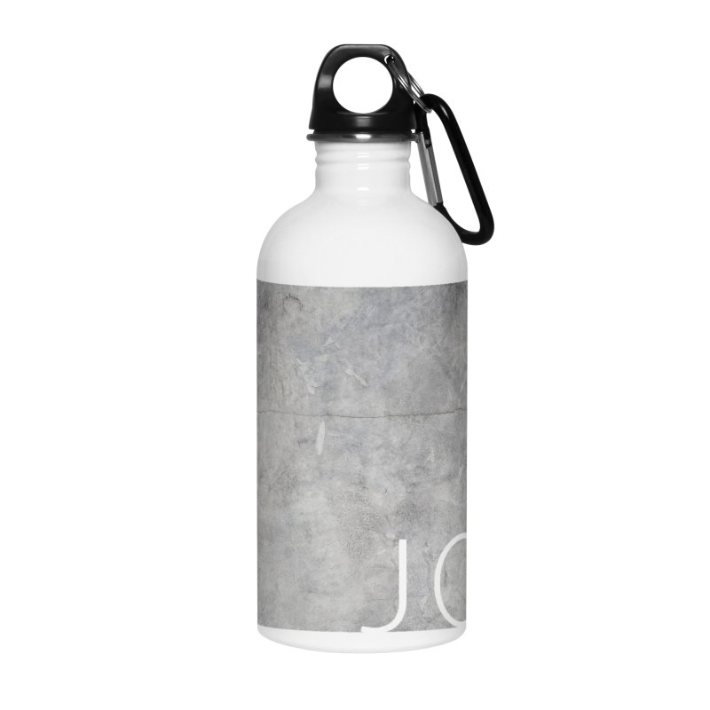 JOY // Concrete Foundation Accessories Water Bottle by desankaspirit's Artist Shop