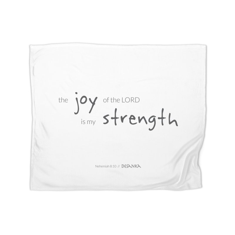 JOY // Is My Strength Home Blanket by Desanka Spirit's Artist Shop