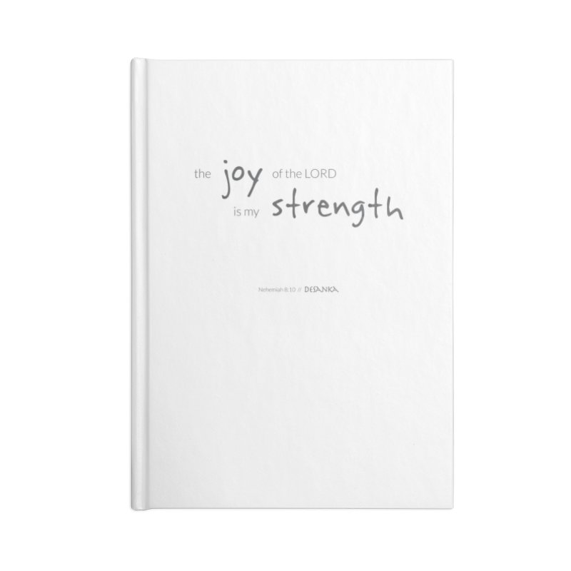 JOY // Is My Strength Accessories Lined Journal Notebook by Desanka Spirit's Artist Shop