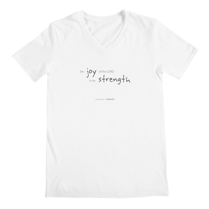 JOY // Is My Strength Men's V-Neck by Desanka Spirit's Artist Shop