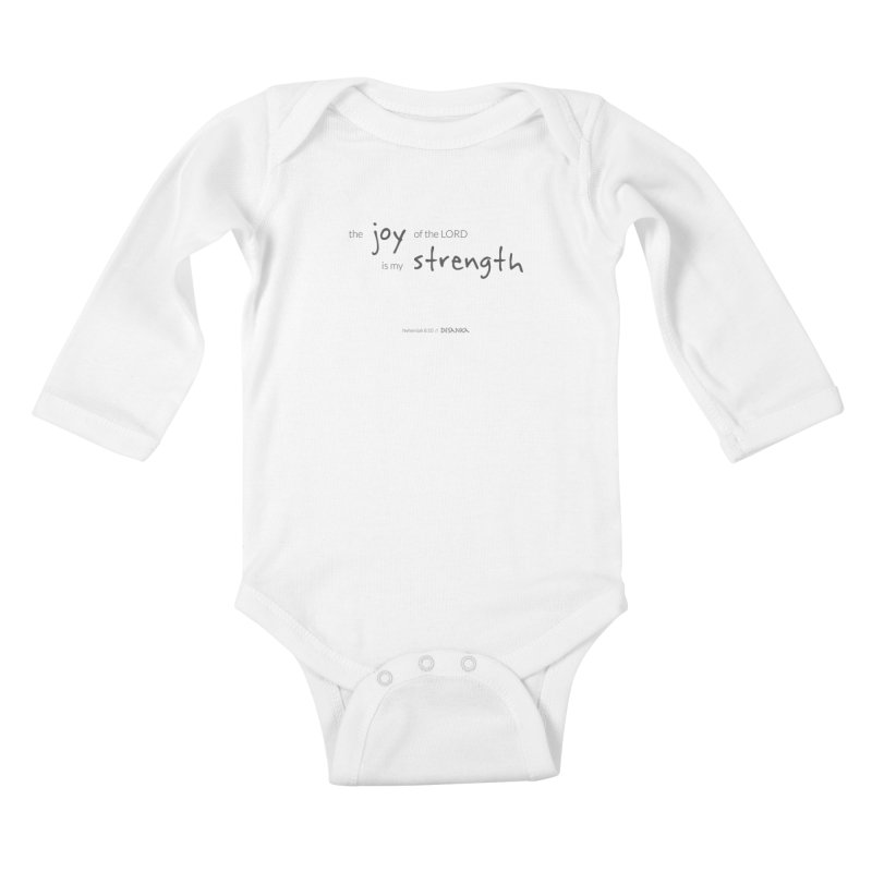JOY // Is My Strength Kids Baby Longsleeve Bodysuit by Desanka Spirit's Artist Shop