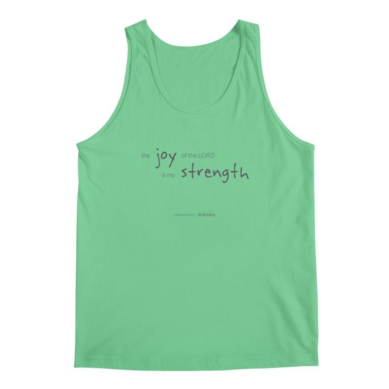 JOY // Is My Strength Men's Tank by Desanka Spirit's Artist Shop