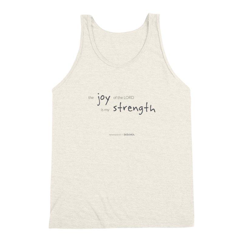 JOY // Is My Strength Men's Triblend Tank by Desanka Spirit's Artist Shop