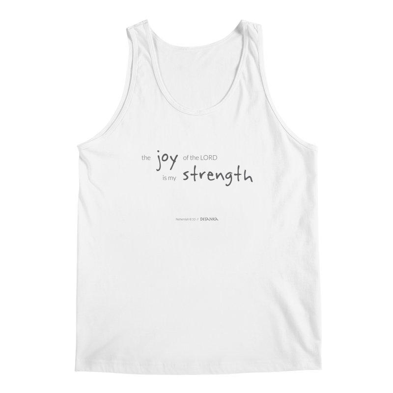 JOY // Is My Strength Men's Regular Tank by Desanka Spirit's Artist Shop