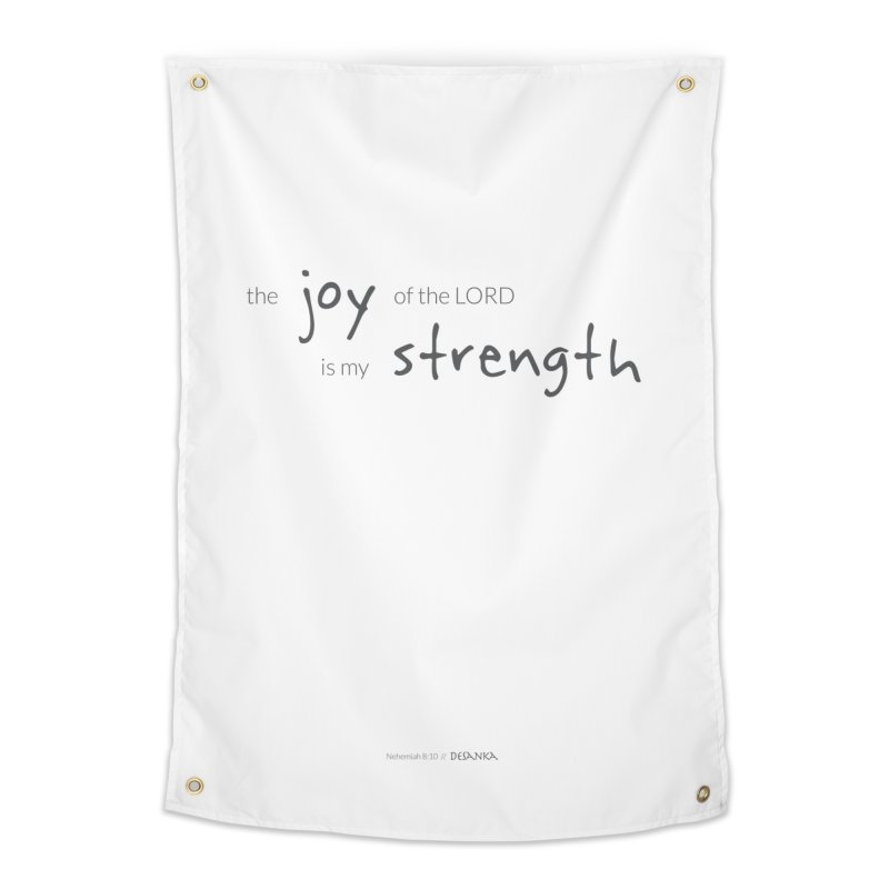 JOY // Is My Strength Home Tapestry by Desanka Spirit's Artist Shop