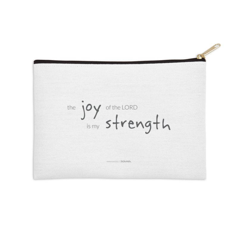 JOY // Is My Strength Accessories Zip Pouch by Desanka Spirit's Artist Shop
