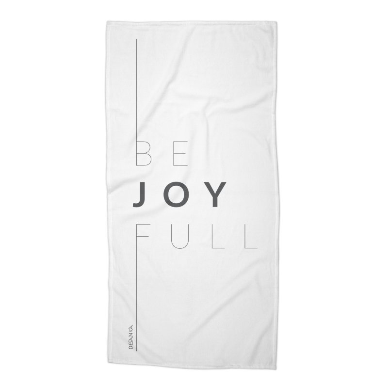 JOY // Full Accessories Beach Towel by Desanka Spirit's Artist Shop