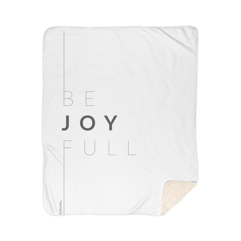 JOY // Full Home Sherpa Blanket Blanket by Desanka Spirit's Artist Shop