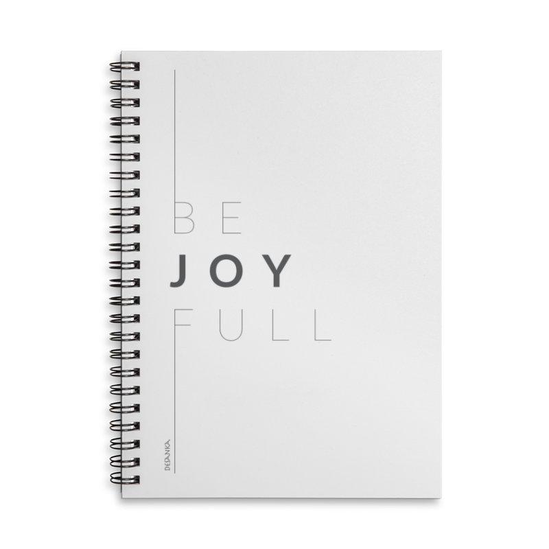 JOY // Full Accessories Lined Spiral Notebook by Desanka Spirit's Artist Shop