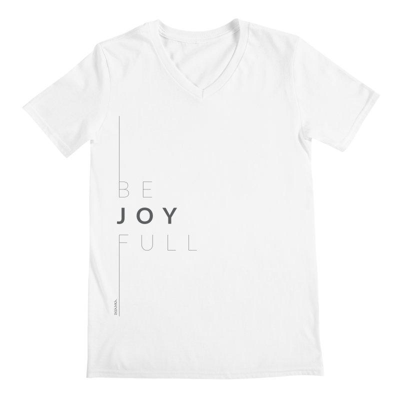 JOY // Full Men's Regular V-Neck by desankaspirit's Artist Shop