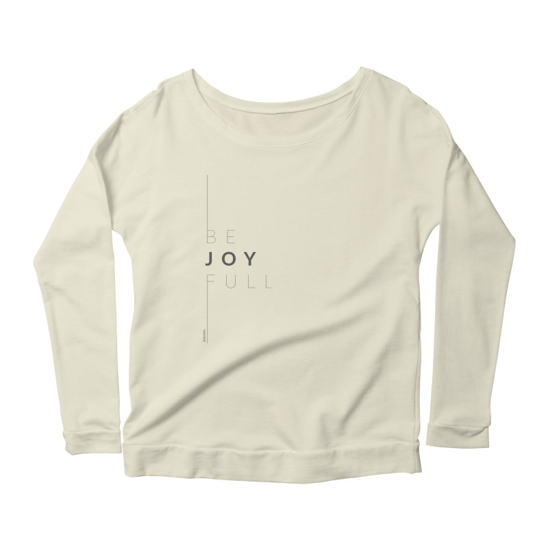 JOY // Full Women's Scoop Neck Longsleeve T-Shirt by desankaspirit's Artist Shop