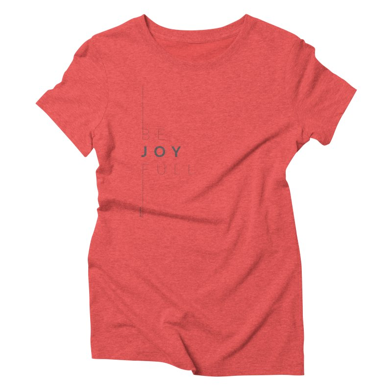 JOY // Full Women's Triblend T-Shirt by Desanka Spirit's Artist Shop