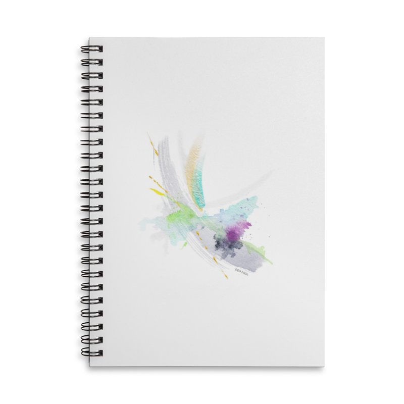 JOY // Living the Dream Accessories Lined Spiral Notebook by Desanka Spirit's Artist Shop