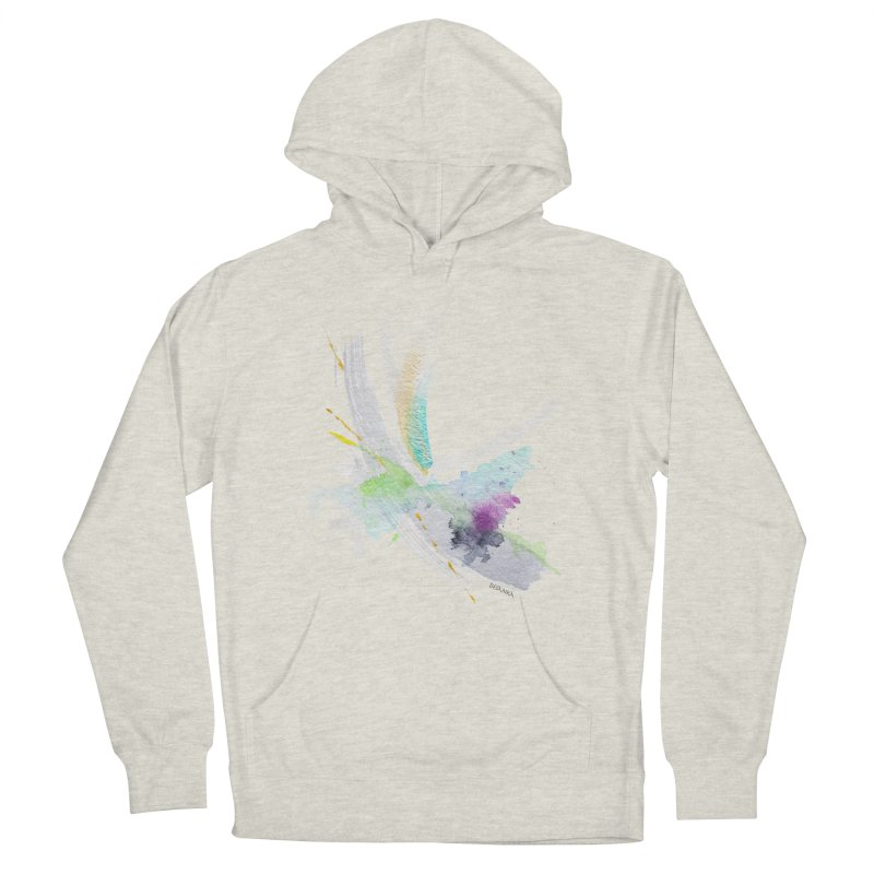 JOY // Living the Dream Men's French Terry Pullover Hoody by Desanka Spirit's Artist Shop
