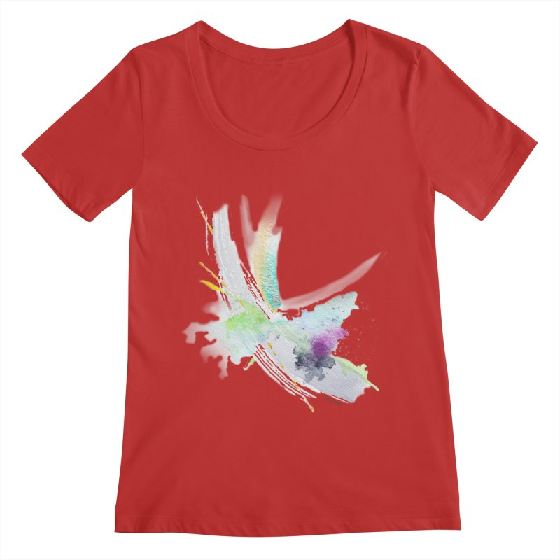 JOY // Living the Dream Women's Regular Scoop Neck by Desanka Spirit's Artist Shop