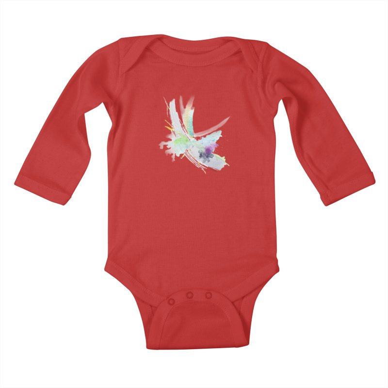 JOY // Living the Dream Kids Baby Longsleeve Bodysuit by Desanka Spirit's Artist Shop