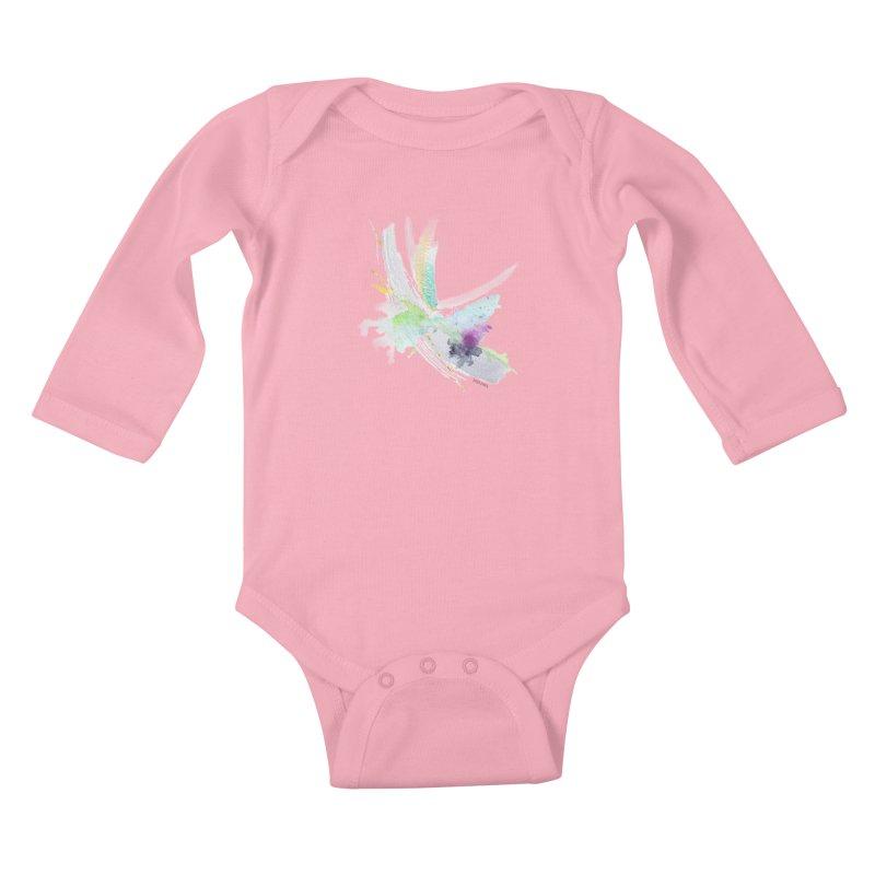 JOY // Living the Dream Kids Baby Longsleeve Bodysuit by Desanka Spirit's Artist Shop