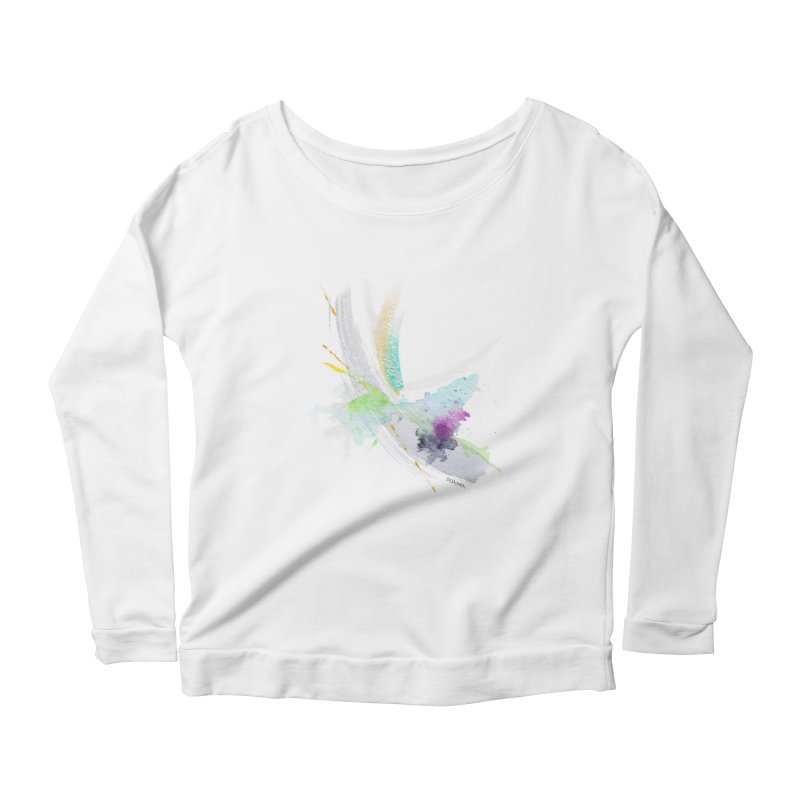 JOY // Living the Dream Women's Scoop Neck Longsleeve T-Shirt by Desanka Spirit's Artist Shop