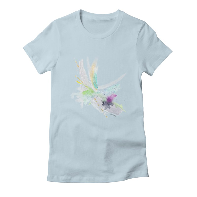 JOY // Living the Dream Women's Fitted T-Shirt by Desanka Spirit's Artist Shop