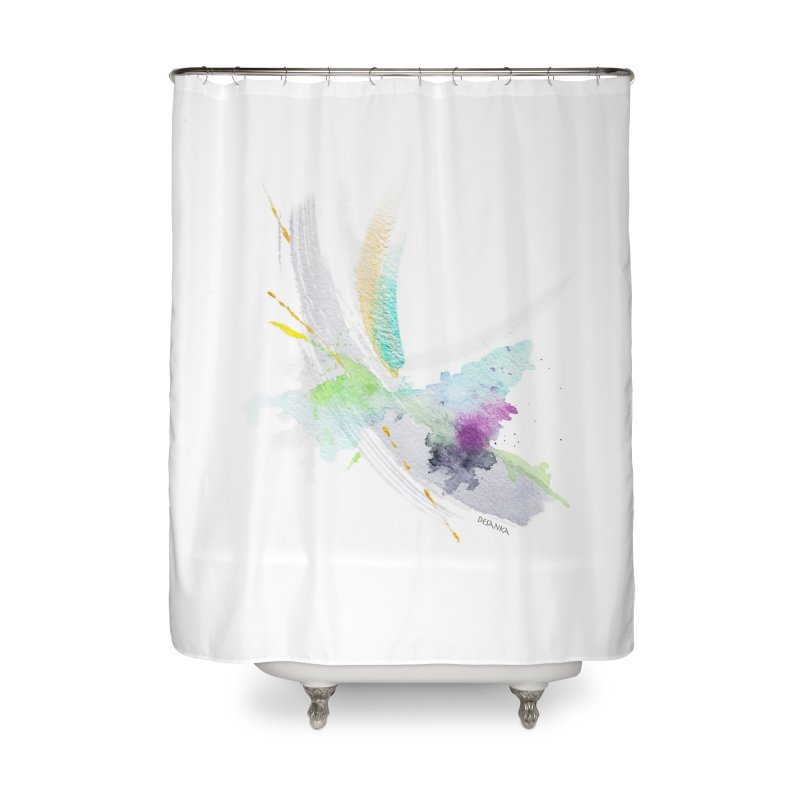 JOY // Living the Dream Home Shower Curtain by Desanka Spirit's Artist Shop