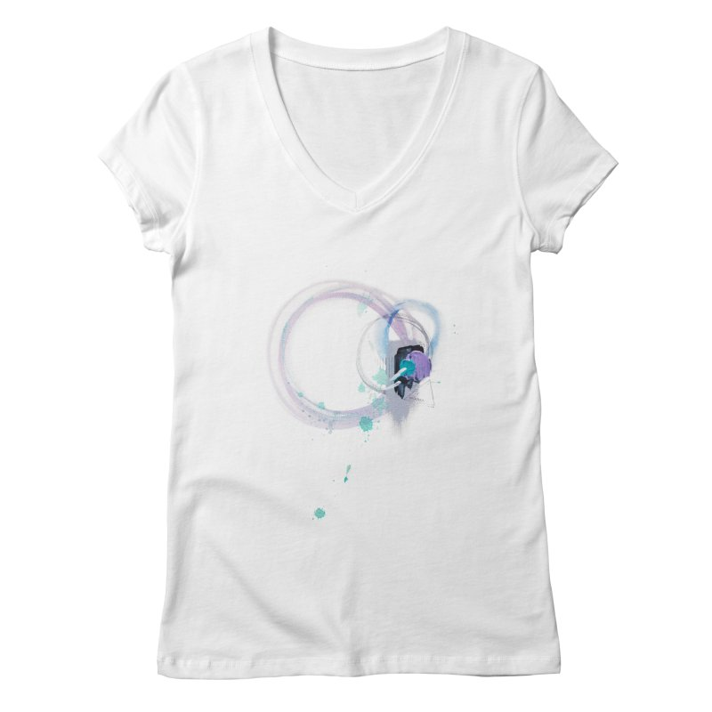 JOY // Ripple Effect Women's Regular V-Neck by Desanka Spirit's Artist Shop