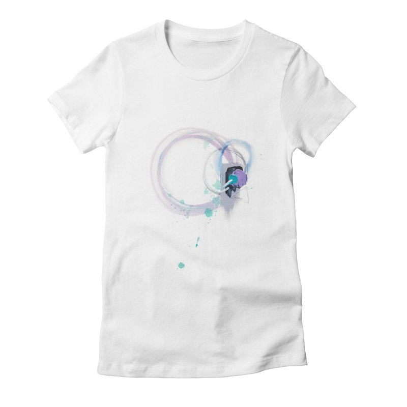 JOY // Ripple Effect Women's Fitted T-Shirt by Desanka Spirit's Artist Shop